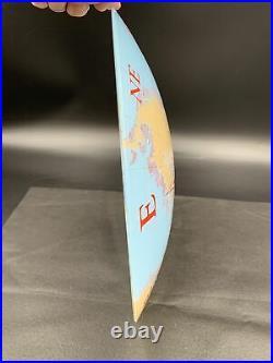 VTG MCM Glass Nautical Compass World Globe Ceiling Shade Lamp Light Cover