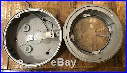 VTG Midcentury Nautical Bar Garage Light Antique Industrial Holophane WW2 Cast