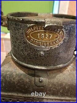 Vintage 1927 Bullpitt Ships Cabin Bulkhead Lamp Light Maritime Marine Nautical