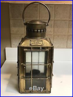 Vintage 1935 Brass Chief Light Ship Lantern/Oil Lamp #3509