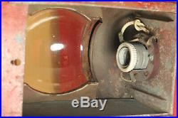 Vintage 1958 Soviet Russian Tin SHIP BOAT LANTERN LAMP White light Fresnel