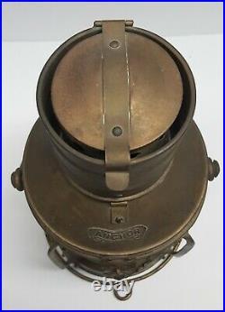Vintage ANCHOR Brass Ship Oil Lantern Light Nautical Boat Navy Maritime
