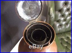 Vintage Anchor Copper & Brass Nautical Ships Lamp Lantern Converted Light