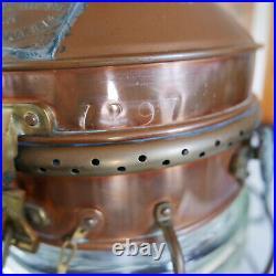 Vintage Antique Brass & Copper Ships Anchor Light Nautical 1954 Davey London