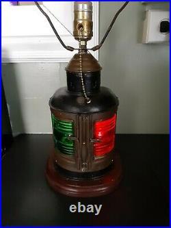 Vintage Antique Brass Perko De Lite Ship Boat Nautical Marine Lantern Light Lamp