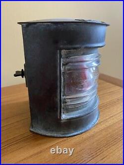 Vintage Antique Copper Marine Maritime Port Ships Lamp Lantern Light