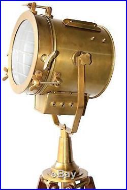 Vintage Antique Floor Lamp Nautical Search Light Handmade Designer Tripod Lamp