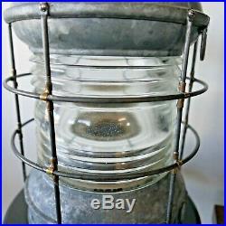 Vintage Antique Large Perko Ship Light Lanturn Elect. 20 Tall 10 Dia. 15 lbs