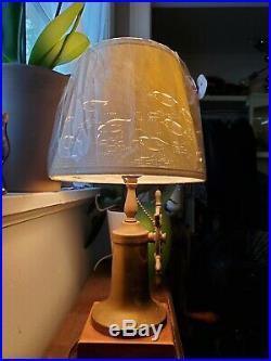 Vintage / Antique Nautical Marine Decor Boat Ship Wheel Brass Table Lamp Light