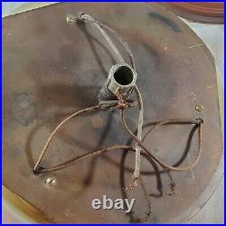 Vintage Antique Nautical Wall or Ceiling Light Ship Wheel Compass Flush Fixture