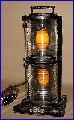 Vintage Antique PERKO Nautical Ship Boat Double Light, Lamp, Works Great, NICE