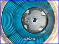 Vintage B&B Marine Navigation Channel Marker Light, 360 Degree Green Fresnel Lens