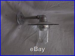 Vintage Barn Light Industrial Look Jelly Jar Garden light Nautical 8 FRANCE