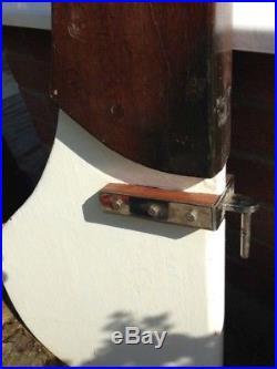 Vintage Boat Rudder. Yacht Ship Wooden Not Light Marine Nautical