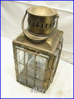 Vintage Brass Caged Lantern Chief Light No. 3509 Great Britain 1935 Nautical