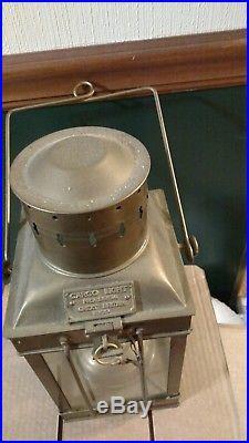 Vintage Brass Cargo Light No 3954 Great Britain 1939 140