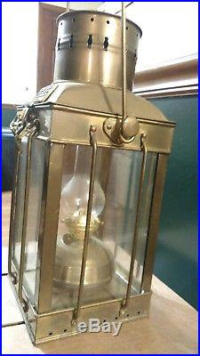 Vintage Brass Cargo Light No. 3954 Great Britain 1939 (140)