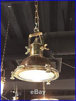 Vintage Brass & Copper Deck Spotlight- Restored & Rewired- Kitchen Island Lights