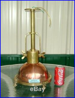 Vintage Brass & Copper Hanging Pendant Light