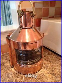 Vintage Brass Copper Ships Port Navigation Lamp 1939 Light Maritime Nautical