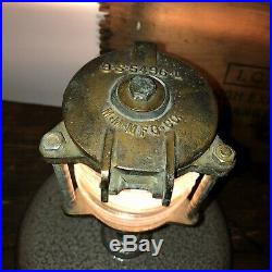 Vintage Brass Glass Ship Boat Anchor Light Nautical Beach House Decor Re-Wired