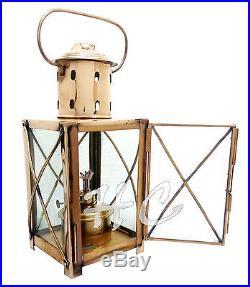 Vintage Brass Hanging Nautical Ship Maritime Oil Lantern Cargo Lamp Boat Light