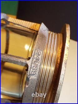 Vintage Brass Marine Nautical Industr Light Cage Glass & Frame Boat Nos W Box B4