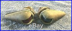 Vintage Brass Marine Sailboat Pair Red Green Marker Lights Seafarer Meridian