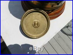Vintage Brass Mast Anchor Lamp Maritime Ship Lantern Boat Light Electrified