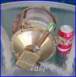 Vintage Brass Mast Head Nautical Ship's Navigation Light