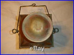 Vintage Brass NAUTICAL MARINE BOAT CARGO LIGHT Glass 3954 Navigation Maritime