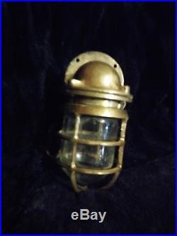 Vintage Brass Nautical Light Fixture