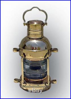 Vintage Brass Nautical Ship Lamp 16 Safety Lamp Lantern Oil Burner Deck Light