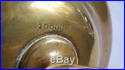 Vintage Brass Nautical Ships Gimbal Lamp Wall Mounted Light Maritime Desk Lamp