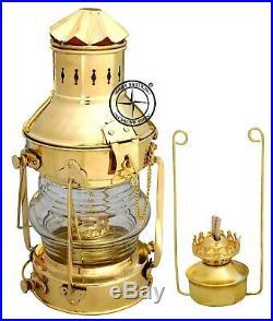 Vintage Brass Oil Lamp Maritime Ship Lantern 15 Boat Light Nautical Anchor Lamp