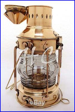 Vintage Brass Oil Lamp Maritime Ship Lantern-Anchor Boat Light Nautical Lamps