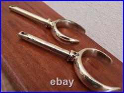 Vintage Brass Rowlocks. Light Brass. Boat Yacht Ship Marine Nautical