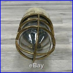 Vintage Brass Ship Bulkhead Light Bolt Filled Conduit Hole