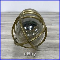Vintage Brass Ship Bulkhead Light Extra Drill Holes