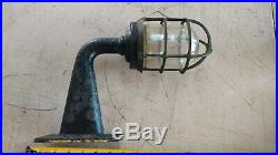 Vintage Brass Ship Nautical Explosion Proof Industrial Boat Light Fixture