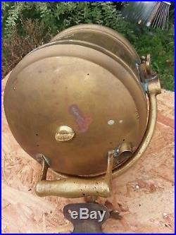 Vintage Brass Ship Spot Search Light By Vesta Accumulator Co. Chicago RARE