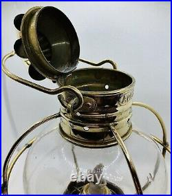 Vintage Brass Ships Hanging Onion ANCHOR Oil Lamp Light Maritime Nautical