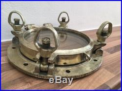 Vintage Brass Ships Opening Porthole Maritime Marine. Light brass. Nautical boat