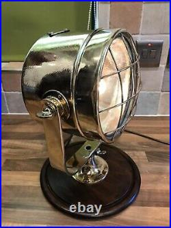 Vintage Brass Ships Spot Lamp Navigation Search Light Maritime Maritime Boat