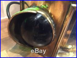 Vintage Brass Ships Tricolour Navigation Light Nautical Maritime Marine Boat