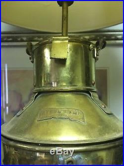 Vintage Brass Stern Ship Electric Lamp Light
