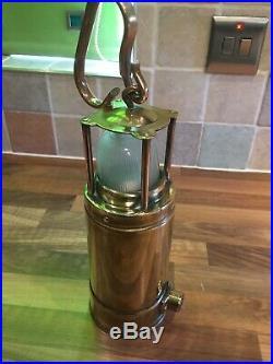 Vintage Brass WW2 McGeogh Admiralty Patt 0583 Ships Lamp Light Maritime Nautical
