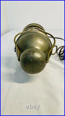 Vintage Bronze Russell & Stoll New York Caged Marine Light