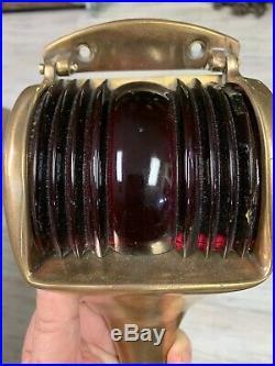 Vintage Bronze Wilcox-Crittenden Port and Starboard Bow Lights