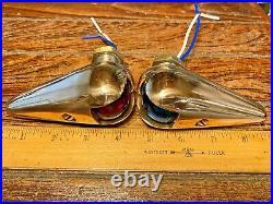 Vintage Bronze Wilcox Crittenden Teardrop Running Lights New Wiring/leds/seals